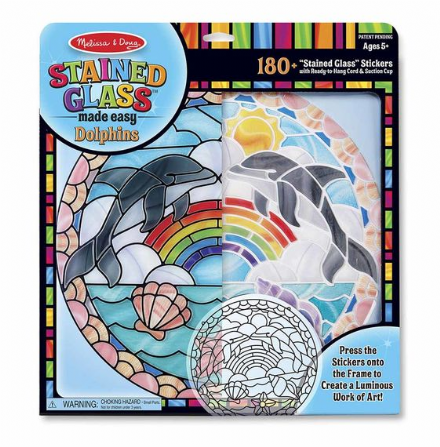 Melissa & Doug Stained Glass Art - Dolphin